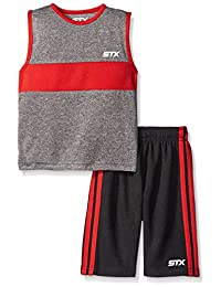 STX Little and Big Boys' 2 Piece Performance Athletic Tank and Short Set