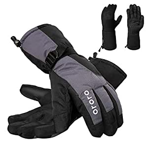 ORORO Heated Gloves with Rechargeable Li-ion Battery for Men and Women, 3-in-1 Warm Gloves for Hiking Skiing Motorcycle(L)