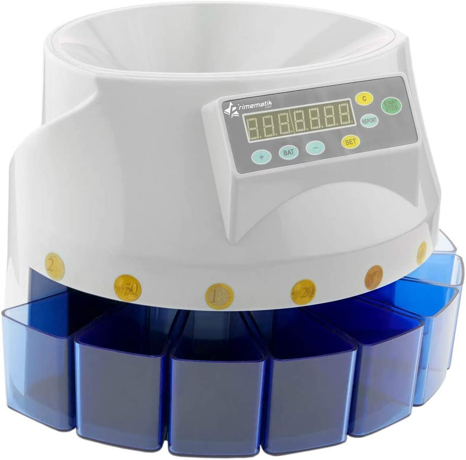 PrimeMatik - Contador de Monedas con clasificador automático para Euro DB360