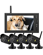 Sistema de cámaras de Seguridad inalámbricas All-in-1-7 Pulgadas LCD Monitor Sistemas inalámbricos de cámaras de Seguridad WiFi, Sistema de monitores de Seguridad (US)
