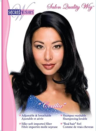 Rubies Costume Secret Wishes Cecilia Wig Black