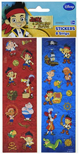 Disney Jake and the Neverland Pirates Sticker | Party Favor | 96 Sheets]()