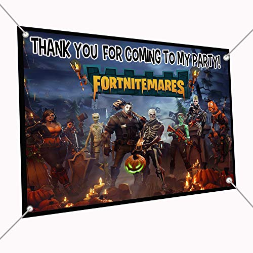 FORTNITMARES Banner Video Game Large Vinyl Indoor or Outdoor Banner Sign Poster Backdrop, Party Favor Decoration, 30