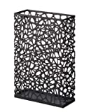 Nest - Black Metal Rectangular Umbrella Stand, Modern Home Decor