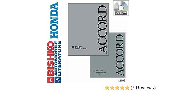 OEM Digital Repair Maintenance Shop Manual CD Honda Accord w// V6 Supp 2003-2007