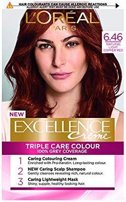 LOreal Excellence 6.46 - Tinte permanente para el cabello, color rojo cobre
