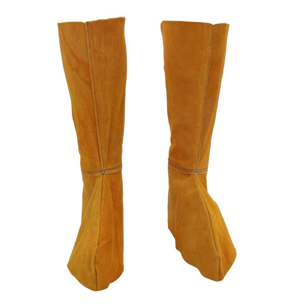 perfk 1 Paar Leder Schweißen Gamaschen Schweißen Schutzschuhe Füße Abdeckung für Schweißer Höhe: Ca. 280 cm / 11,02 Zoll