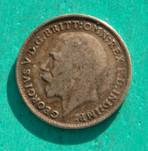 King George V Three Pence Silver Coin - 1918 WWI - Coin Silver Pence