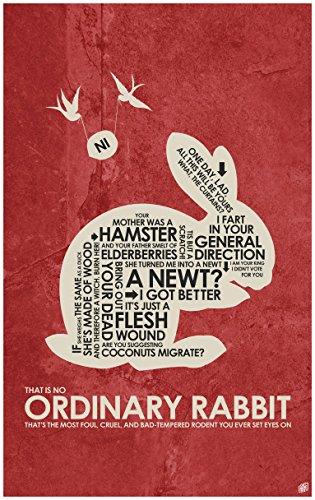 Northwest Art Mall Monty Python, Holy Grail,THAT IS NO ORDINARY RABBIT Word Art Print Poster (24
