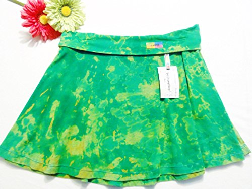 """Be Everything! """"Green"""" Size Large Hand-Dyed Jersey Cotton Maxi Skirt"""