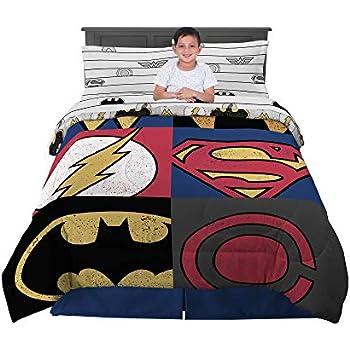 BATMAN DC Comic Full Double Size Bed Comforter Sheet Set Bed in Bag Bundle NEW