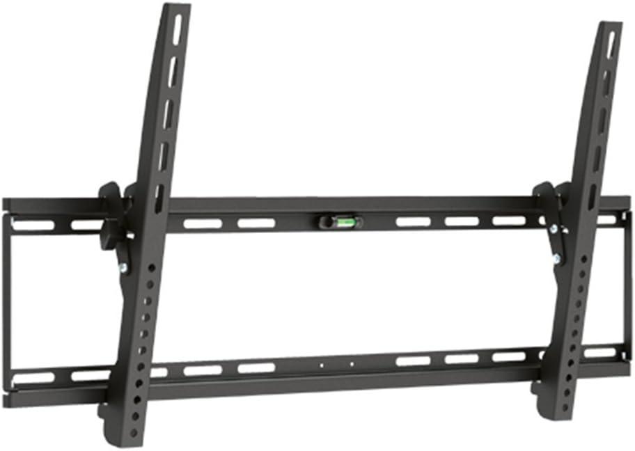 Soporte de pared Brateck inclinable, ultrafino, para televisores plasma, de alta definición, LCD y LED, con nivel de burbuja, para televisores de hasta 75 kg VESA 800 x 400, color negro.: Amazon.es: