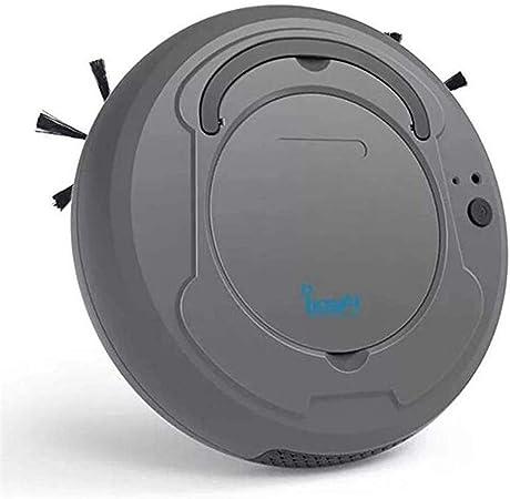LG&S Aspirador Robot, Barredora de Piso de succión Fuerte automática para Azulejos de Alfombra para el hogar Cuidado del Cabello para Mascotas,Gris: Amazon.es: Hogar