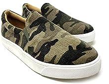 SODA Topshoe Avenue Reign Women's Closed Toe Slip on Sneaker Loafer (8.5 M US, L-CAMO New)