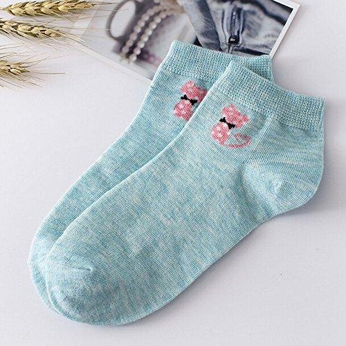 Haluoo Womens Ankle Socks, Women Girls Low Cut Cotton Low Cut Sock Comfort Breathable Thin Casual Socks Athletic Sport Performance Socks No Show Socks Crew Socks (Green)