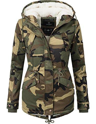 xxl Delle Giacca Inverno Signore Marikoo Xs 11 Colori Manolya Camouflage Di Cotone xqPXEBw