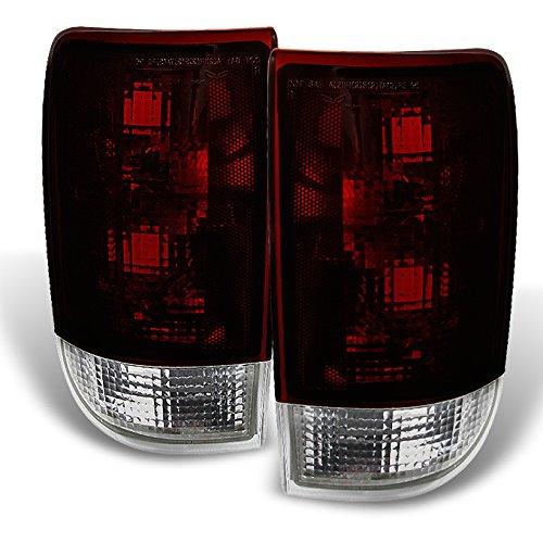 For Chevy Blazer GMC Jimmy Envoy Oldsmobile Bravada Dark Red Tail Lights Replacement Pair Set Assembly (Oldsmobile Bravada Tail Lamp)