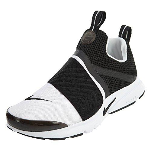 Nike Kids Presto Extreme Running Shoe (4) White/Black (Nike 4 Size Boys Shoes)
