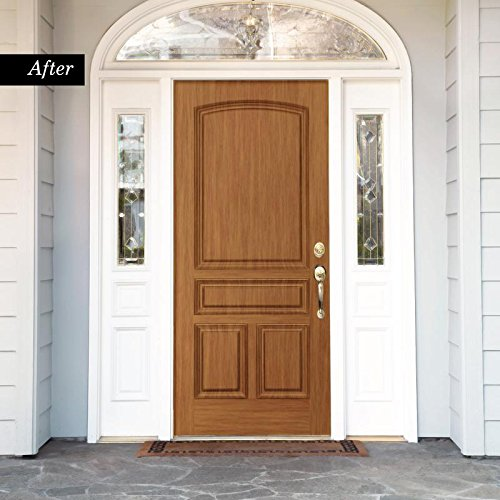 Oak Front Door (Giani Wood Look Paint Kit for Front & Interior Doors (Red Oak))