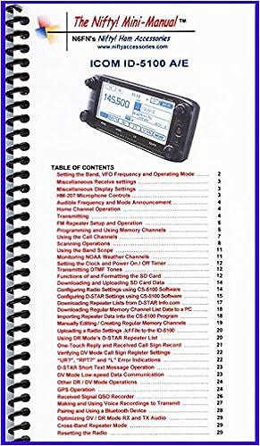 Icom ID-5100A /E Mini-Manual by Nifty Accessories