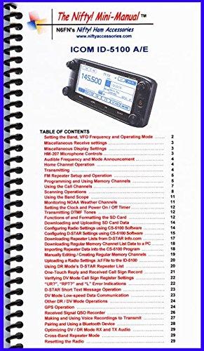 Icom Manual Radio (Icom ID-5100A /E Mini-Manual by Nifty Accessories)