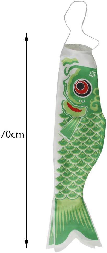 dailymall 70cm Windsack Karpfen Flag Koinobori Segelfisch Fischwind Streamer Gr/ün+70cm Windsack Karpfen Flag Koinobori Segelfisch Fischwind Streamer Rot+70cm Wi