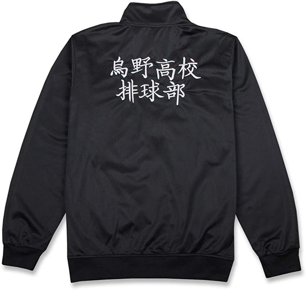 BellaPunk Erwachsene Haikyuu Cosplay Jacke Hosen Schwarz Sportswear Karasuno High School Volleyball Club Uniform Kost/üme