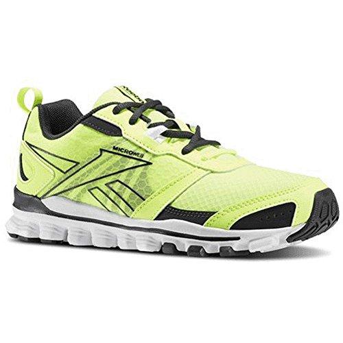 Reebok Womens Hexaffect Sport Maille Colorblock Chaussures De Course Jaune / Gravier
