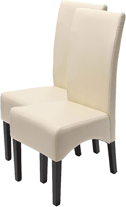 Mendler 2X Esszimmerstuhl Küchenstuhl Stuhl Latina, Leder