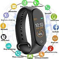MARVIK AM-4 Smart Band Bluetooth Waterproof Heart Rate Monitor Smart Screen Bracelet Fitness Tracker - Black