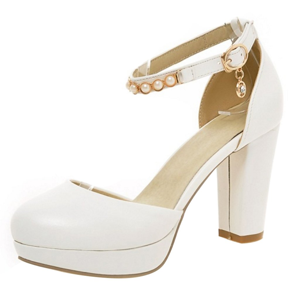 Coolcept Femmes Plateforme Chaussures Talons Hauts Sandales Chaussures Plateforme B000LEQMF2 Blanc e47fc9e - therethere.space