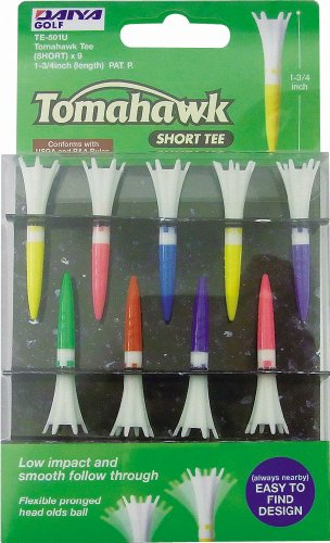 "Tomahawk Short Golf Tees - 1 3/4"" - 9 Pack"