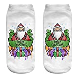 Women's 3D Cartoon Funny Casual Crazy Cute Amazing Novelty Print Cotton Ankle Socks