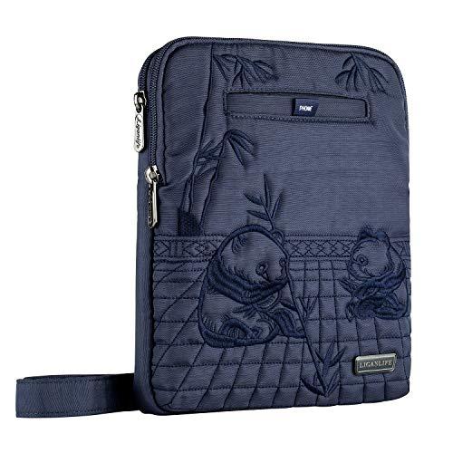 (VVF0 New LIGANLIFE Crossbody Bags Water Resistant RFID Protection iPad Bag (Royal Blue))