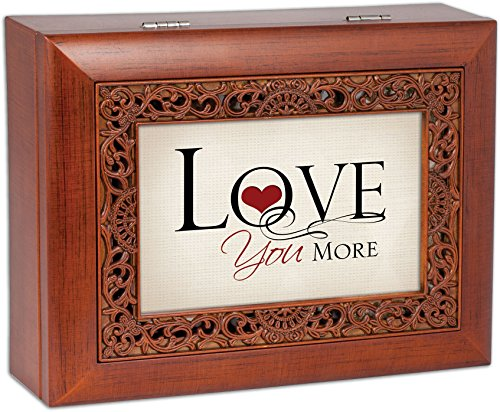 Cottage Garden Love You More Ornate Woodgrain Inlay Jewelry Music Box Plays All You Need is Love