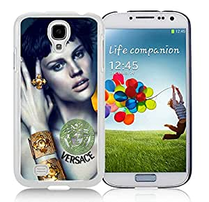 Unique And Luxurious Designed For Samsung Galaxy S4 I9500 i337 M919 i545 r970 l720 Cover Case With VERSACE 1 White Phone Case