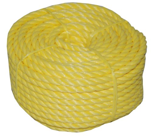 T.W . Evans Cordage 31-033 1/2-Inch by 100-Feet Twisted Yellow Polypro Rope Coilette