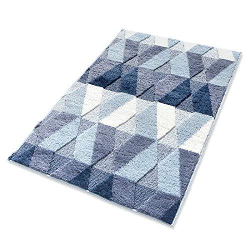 youta Front Door Rugs Shaggy Non-Slip Bath Rug Absorbent Floor Foot Mat Microfiber Striped Pad...