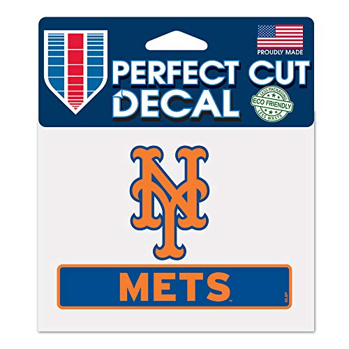 (WinCraft MLB New York Mets WCR18062014 Perfect Cut Color Decal, 4.5