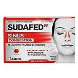 Sudafed PE Sinus Congestion Maximum Strength