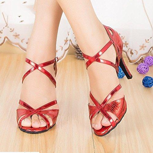 Glitter Oro B Scamosciati Rosso Scarpe 33 C sandali Da Ballo colore Glitter E Xue Serali Azzurro Dimensione Latino Donna Party Scintillanti tacco Interni x0vZwAqFB