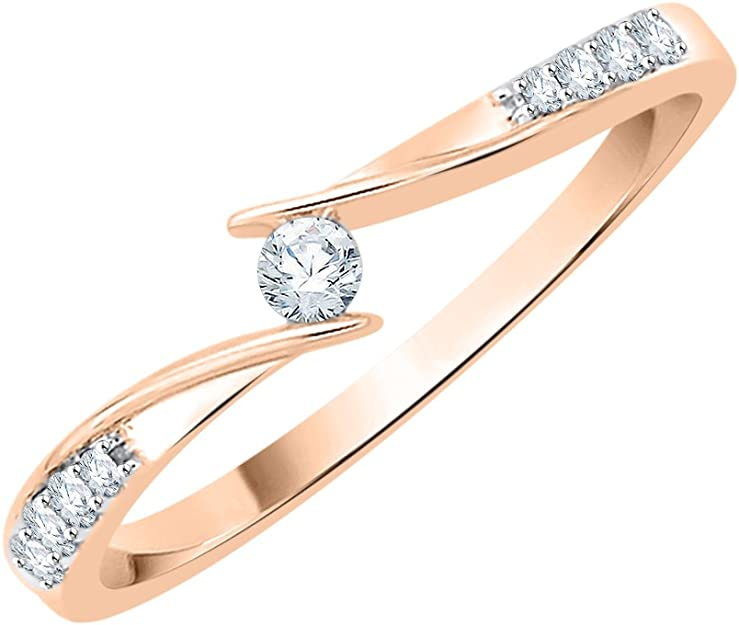 Diamond Wedding Band in 14K Yellow Gold Size-9.25 1//8 cttw, G-H,I2-I3