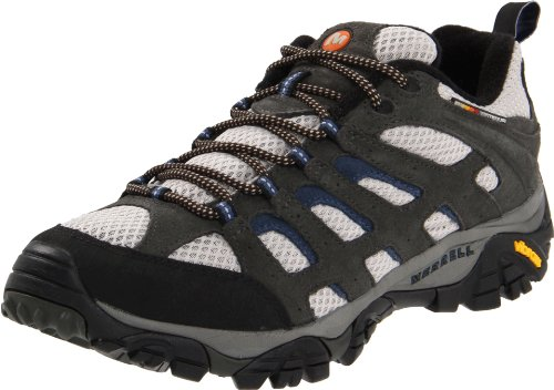 Merrell Men's Moab Ventilator Hiking Shoe,Beluga/Denim Blue,12 M US