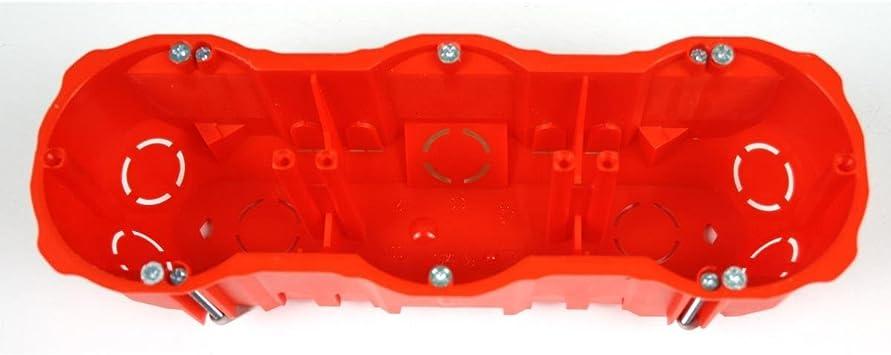 5x Hohlwanddose 3-fach Abzweigdose Hohlraumdose Dreifach Schalterdose Ø60 x 63mm