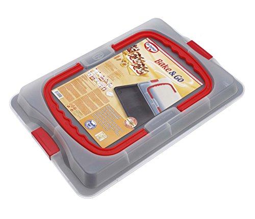 Dr. Oetker Backblech 3in1 mit Transporthaube, Ofenblech zum Backen, Aufbewahren & Transportieren, als Pizza-, Auflauf- & Kuchenblech, Maße: 42 x 29 cm 7