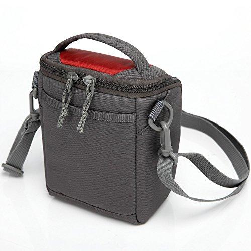 First2savvv BDV2208 6407 rot Luxus Qualität Anti Shock Nylon Kameratasche für Canon PowerShot SX420 . SX410 . EOS M10 . EOS M3. G1X Mark II . G3X