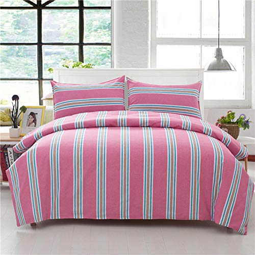 M King Plain Solid color Reversible Duvet Cover Double Digital Print Quilt Case Bedding Bedroom Daybed Striped Adults Teenagers Quilt Cover 1PCS-Z4-Twin