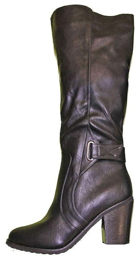 Stiefel Frauen Kunstleder Absatz quadratisch Verschluss aus Reißverschluss Ende rund Pierre-cedric