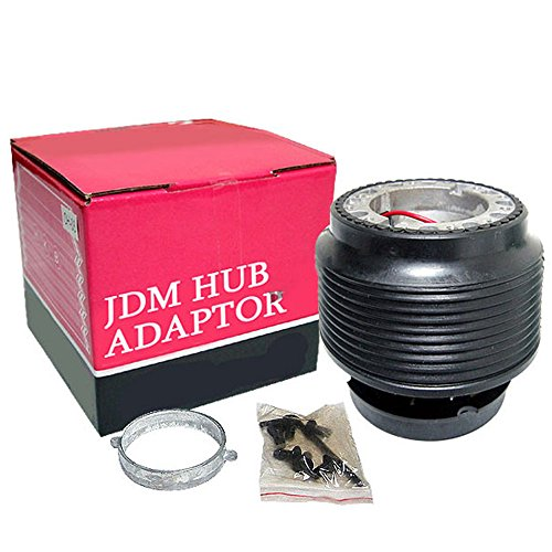 Hub Adapter Fits 1988-1991 Honda Civic | JDM Style Aluminum & Plastic BlackBoss Kit by IKON MOTORSPORTS | 1989 1990