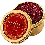 Mazaeus Saffron, Premium Saffron Threads (Grade 1), All-Red Saffron Spice, Highest Quality Persian Saffron for Culinary Use (10 grams)